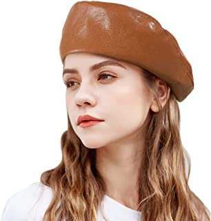 G.C Fashion Leather Beret French Artist Style Hats Cap for Women Lady Girls