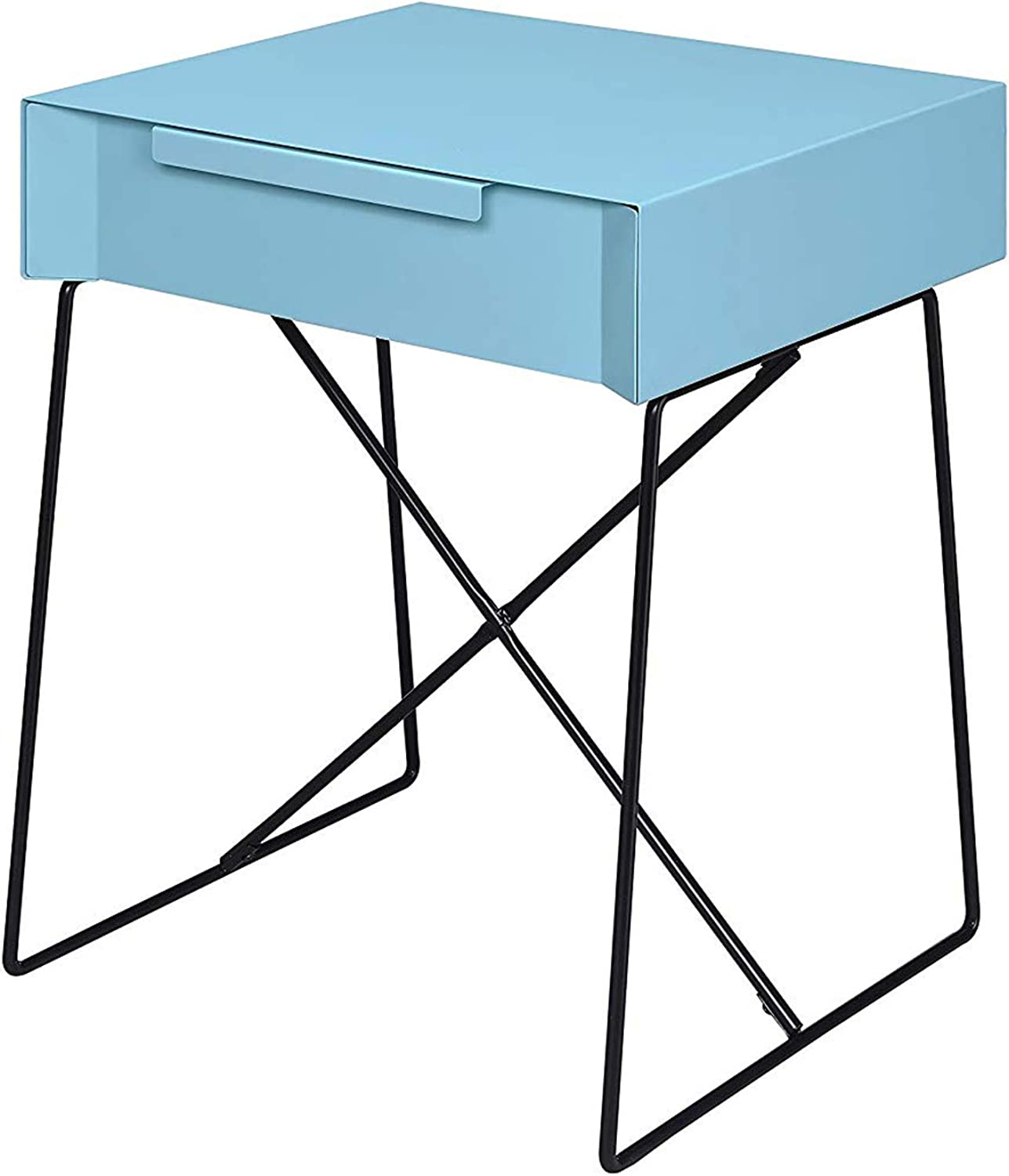 Benzara BM154614 Gualacao End Table Light bluee