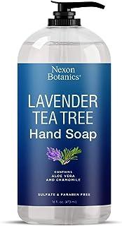 Lavender Tea Tree Hand Soap 16 fl oz - Liquid Hand Wash with Pure Aloe Vera and Chamomile - Moisturizing Hand Wash with Pu...