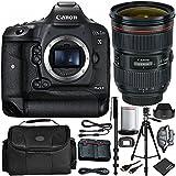 Canon EOS-1D X Mark II DSLR Camera Bundle EF 24-70mm f/2.8L II USM Lens and Manufacturer Accessories (12 Items)