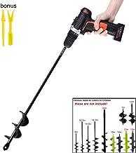 Garden Auger Drill Bit 1.6×16.5inch Garden Auger Spiral Drill Bit Rapid Planter for..