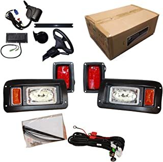 Performance Plus Carts Club Car DS Golf Cart All LED Deluxe Street Legal Light Kit for 1993 and Up