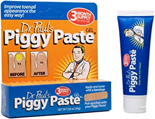 Dr. Paul's Piggy Paste Gel Toenail Fungus Treatment | Repairs Brittle Yellow Thick Nails | 8 Ounces (3 Month Supply)