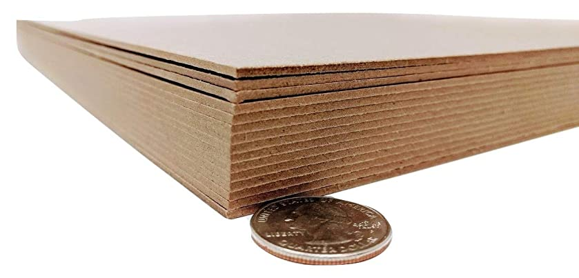 12 x 12 Inches 70 Point Kraft Heavy Duty Chipboard Sheets - 15 Per Pack