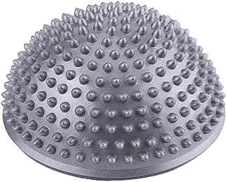 VGEBY1 Bola de Equilibrio para Mejorar coordinación-Bola del Masaje del pie- Punto Inflable del Equilibrio de la Media Bola de la Yoga para el Ejercicio del Gimnasio