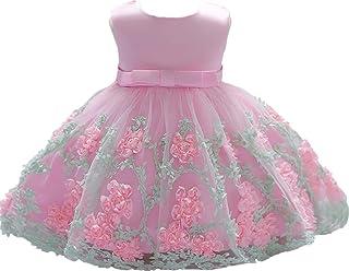 فستان للفتيات الصغيرات من Jup'Elle مزين بالزهور والكشكشة للحفلات وحفلات الزفاف والحفلات الراقصة والأميرة الوردية