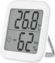 Termómetro Higrómetro de pared para interiores de precisión con alarma de notificación y pantalla LCD. Monitor digital de temperatura y humedad para la habitación del bebé para el garaje de la casa