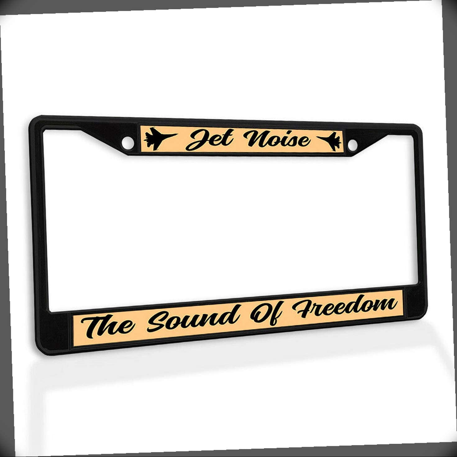 New License Plate Frame Jet Noise Freedom Metal The Manufacturer 1 year warranty OFFicial shop Car Sound of