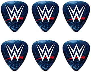 WWE Crowd Logo Novelty Guitar Picks Medium Gauge - Set of 6
