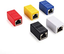 SAISN RJ45 Coupler in Line Coupler Cat6 Cat5e Cat5 Ethernet Cable Extender Adapter Female to Female (Pack of 5)