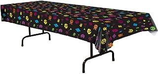 غطاء طاولة بتصميم الثمانينيات من بيستل