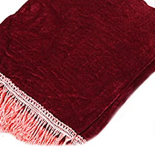Decorated cover Practical Guzheng Chinese Zither Dust Proof Guard Cover Velvet Tassel Outdoor Stage -Purplish Red ruiycltd