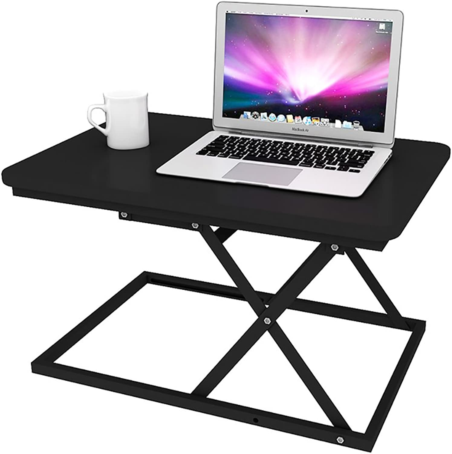 KXBYMXSimple Folding Table Lifting Table Folding Standing Mobile Office Computer Desk