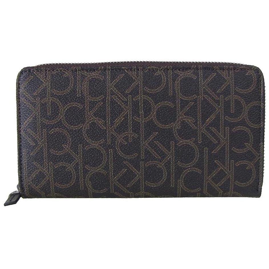 ピアノウィザード枢機卿Calvin Klein Men's カルバンクライン 長財布 メンズ 財布 CK Logo Printed Zip Continental Long Wallet