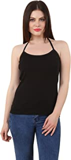 GRAPPLE DEALS Cotton Halter Neck Camisole Soft High Fabric Camisole for Women and Girls.