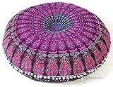 Eyes of India - 32' Mandala Boden Meditation Kissen Sitz Kissen Überwurf Hippie Rund Bunt...