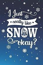 I Just Really Like Snow Okay?: Winter Penguin Snowflake Journal (Blank Lined)