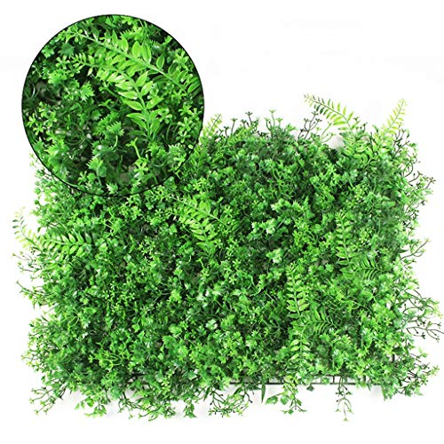 XEWNEG Außen Künstliche Hecken Panels Mit Blume, UV-Schutz Und Fade-frei, Geeignet for Outdoor-Home Store Dekoration (40 × 60cm) (Color : B)