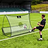 RapidFire Flash II Pop-Up Soccer Rebounder | 5ft Dual-Delivery Rebound Net for Skill Training
