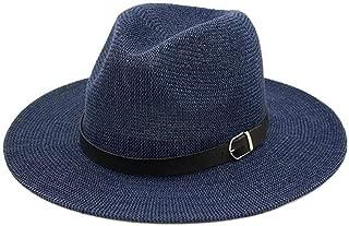 Vintage Panama Women Men Straw Sun Hat Fedora Sun hat Women Summer Beach Sun Visor Cap