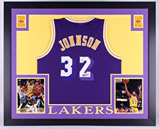 Magic Johnson Autographed Signed Los Angeles Lakers 35x43 Deluxe Framed  Jersey - PSA DNA Certified 5e2847d8d