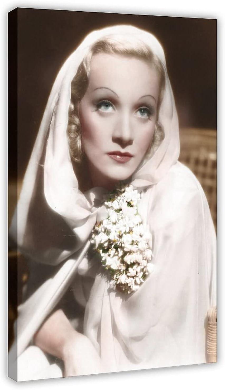 Póster de lona de Actor Marlene Dietrich 53, decoración de dormitorio, paisaje, oficina, decoración de habitación, marco de regalo, 30 x 45 cm