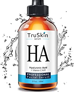 BEST Hyaluronic Acid Serum (BIG 2-OZ Bottle) for Skin & Face with Vitamin C, E, Organic Jojoba Oil, Natural Aloe and MSM - Deeply Hydrates & Plumps Skin to Fill-in Fine Lines & Wrinkles