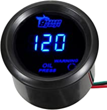 "ESUPPORT Car 2"" 52mm Digital Oil Press Pressure Gauge Blue LED"