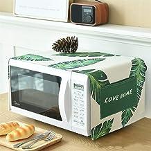 HHYK Ropa de algodón Horno de microondas Cubierta de Polvo Accesorios Cocina de la Cocina de microondas hogar a Prueba de Agua Horno Cubierta (Color : Leaf)