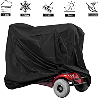 Zeudas Mobility Scooter Cover, Waterproof Lightweight Outdoor Wheelchair Pride Power Scooters Storage Covers for 4 Wheels Electric Dust Rain Accessories