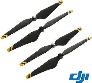 DJI Phantom 2 & 3 Series Carbon Fiber Reinforced Self-Tightening Propellers Props, 24 x 12.7cm, 2 Pack, Black with Yellow Stripes