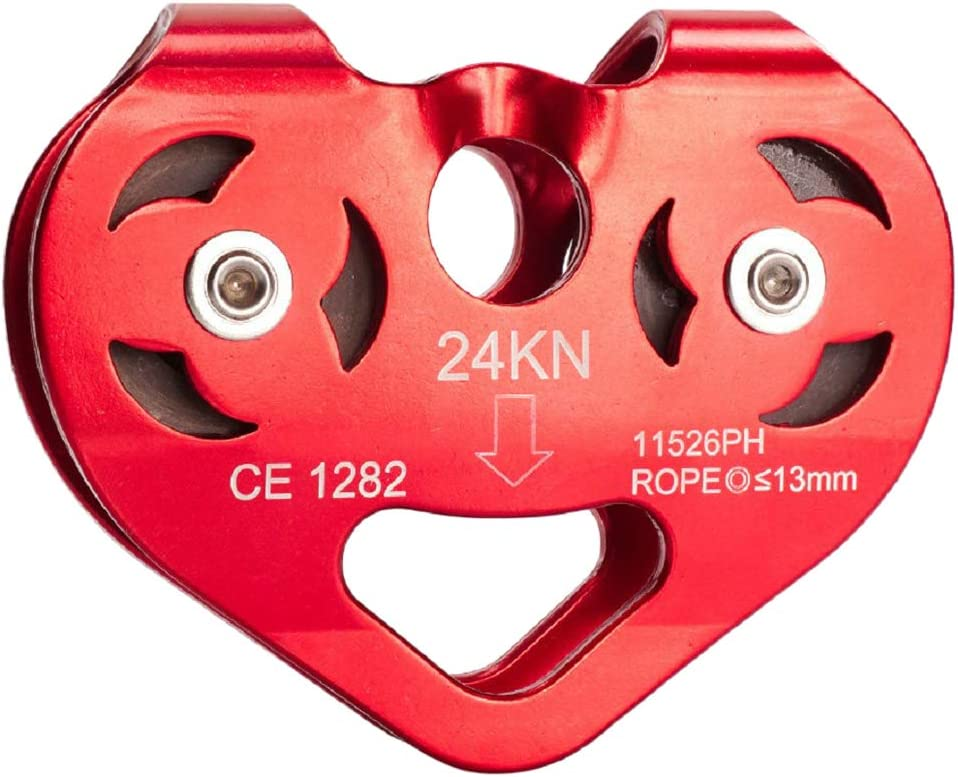 Colcolo Heart Shape Mountaineering Abseiling Rope Pulley Aluminu