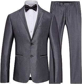 ARTFFEL Men Wedding Party Two Piece Outfits Casual Business Blazer & Pants Trousers 2 Pcs Suits Sets