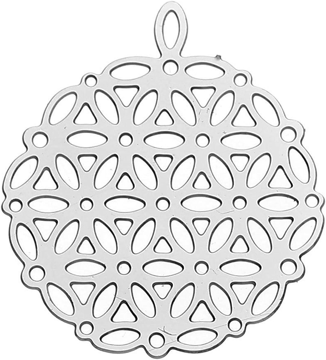 SiAura Material ® - Colgante de acero inoxidable con diseño de árbol de la vida, 22 x 25 mm, 1 unidad