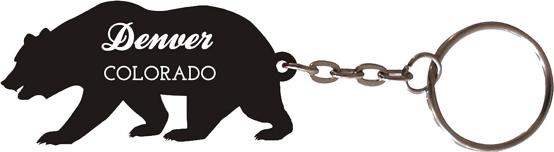 Denver Colorado Souvenir Metal Bear Keychain