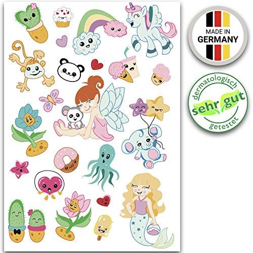 Ahimsa Glow Kinder Klebe-Tattoos für Mädchen, dermatologisch SEHR GUT & Made in Germany