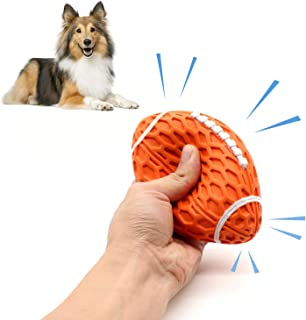 Bzonsmart Squeaker Ball Dog Toys, Durable Chew Toy, Interactive Dog Toy for 15-80Lb
