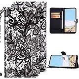 QPOLLY Portefeuille en Cuir PU Coque Compatible avec Huawei Mate 30 Lite Housse de Protection,...