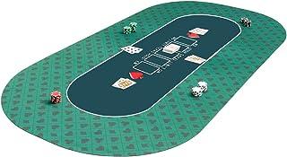 COSTWAY Draagbare Poker Mat, Rubber Poker Tafelblad, Tafelblad Indeling Poker Mat, Gladde Waterdichte Oppervlakte, Antisli...