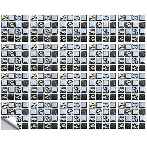 MZ-2-189 - Papel pintado con diseño de mosaico (20 unidades, autoadhesivo, extraíble)
