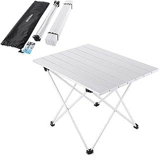 comprar comparacion YAHILL Mesa Plegable Camping de Aluminio Mesa Playa de Acampar Enrollable de 3 tamaños con Bolso para cargarla para picnic...