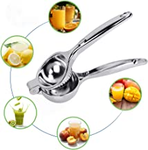 KMEIVOL Lemon Squeezer, Quality Stainless Steel Lime Squeezer, Heavy Duty Solid MetalCitrus Squeezer, Lemon Juicerfor The Most Juice Possible, Hand Juicer, Dishwasher Safe Manual Juicers, Silver