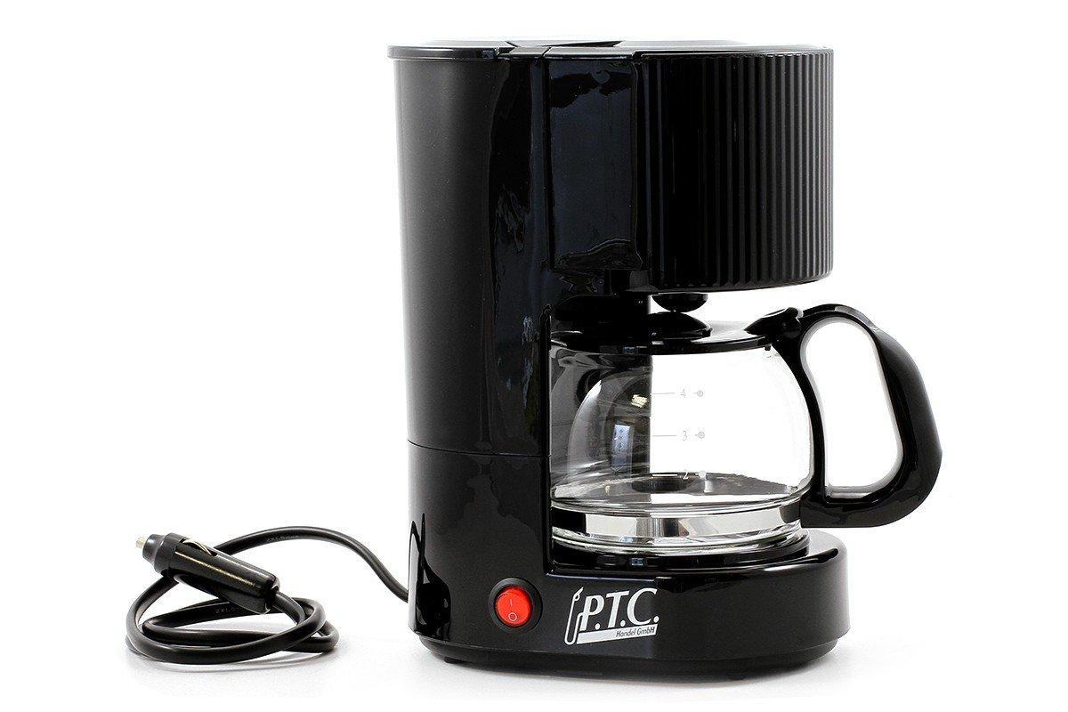 PTC Cafetera Eléctrica 12 V 5 tazas: Amazon.es: Coche y moto
