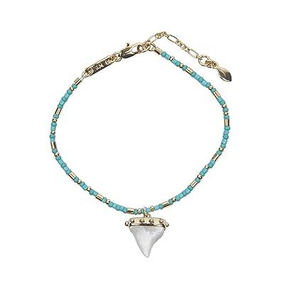 Rebecca Minkoff Shark Tooth Seed Bead Bracelet (Gold) Bracelet