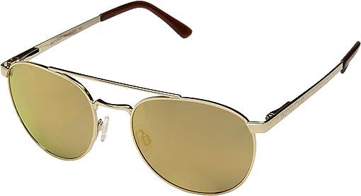 Men's Rag & Bone 62Mm Mirrored Aviator Sunglasses Ruthenium Khaki Blue