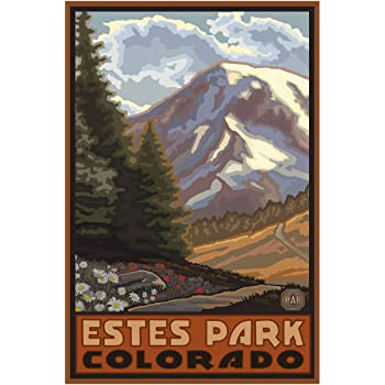 Amazon Com Estes Park Colorado Elk And Mountains 12x18 Art Print Wall Decor Travel Poster Posters Prints