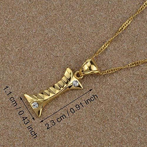 LLXXYY Collar Dama Mapa,Letra Inicial En Inglés I, Collares Colgantes para Hombres Mujeres Chica con Alfabeto De Piedra Color Oro Cadena Encanto Joyas
