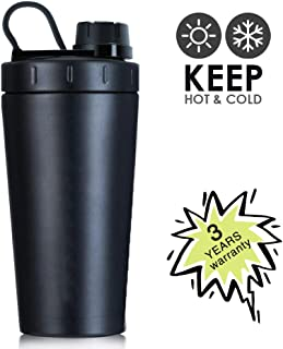 TOOFEEL 28oz 800ml Stainless Steel Protein Shaker Bottle Dishwasher Safe Sports Mixer Water Bottle Shaker Cup Leak Proof BPA FreePerfect for The Gym and Bodybuilding