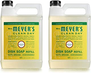 Mrs. Meyer's Clean Day Liquid Dish Soap Refill, Honeysuckle, 48 Ounce - 2 PK