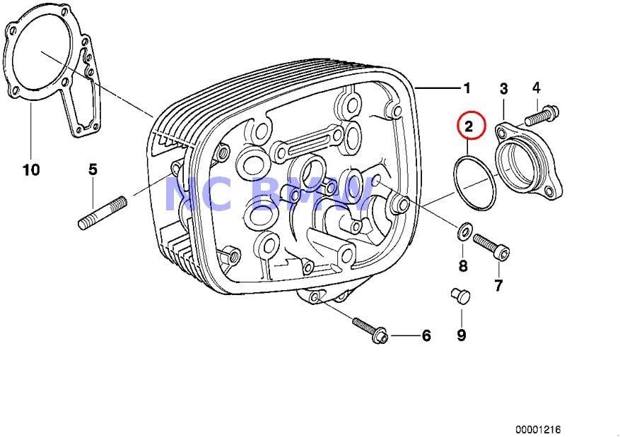 2 X Special sale item BMW Genuine Motorcycle Cylinder R1100R R R1100GS Head O-Ring Mail order
